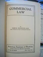 Commercial Law (Samuel Williston, 1934 Hardcover) No Dust Jacket