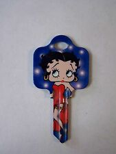 "Betty Boop ""Flasbulbs"" Schlage House Key Blank / New"