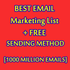 Best Email Marketing List And FREE SENDING METHOD [1000 MILLION EMAILS]