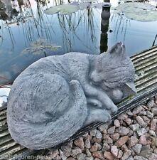 Gartenfiguren & -skulpturen aus Steinguss mit Katzen Wetterfeste