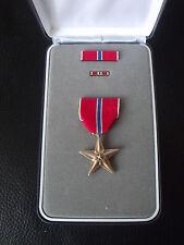 Bronze Star US Orden im Etui Irak/ Afghanistan - Krieg mit Namen !!