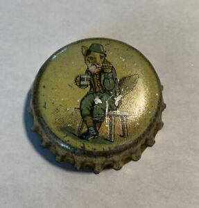 Bevo Fox In Green Suit Cork Bottle Cap