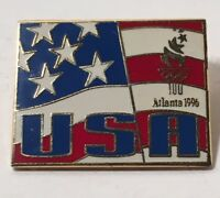 USA American Flag Olympic Games Lapel Pin Atlanta 1996 Limited Edition 5000 Made