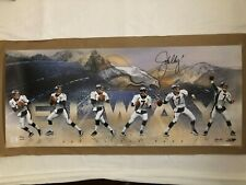 """UDA COA John Elway Autographed """"Art of the Pass"""" 36X15 Limited Edition to 50"""