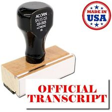 Acorn Sales - Large Official Transcript Rubber Stamp