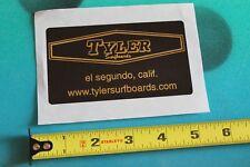 TYLER Surfboards El Segundo CA SURF FUSION Vintage Surfing STICKER