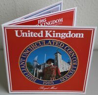 UK 1985 Royal Mint Annual Brilliant Uncirculated 7 Coin Set and Packaging