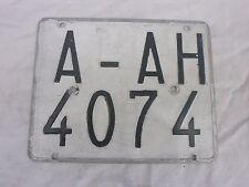 SPAIN ALICANTE LAMBRETTA VESPA MOPED MOTORCYCLE 1970s # A-AH 4074 LICENSE PLATE