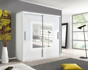 Venice 2 Mirror Beautiful wardrobe is available in 3 Sizes and 3 Colors