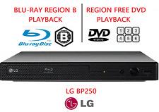 LG BP250 Blu-Ray Player REGION FREE DVD Playback WARRANTY