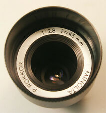 Vintage Minolta P.Rokkor 45mm f2.8 lens for projector  clean