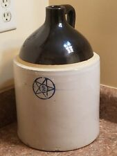 Vintage Collectible Two Gallon Two Tone Moonshine Crock Stoneware Whiskey Jug #2