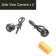 2PCS Car Side View Cameras Auto Mirror Flush Mount 360 Degree Swivel Adjustable