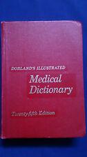 Vintage 1974 DORLAND'S ILLUSTRATED MEDICAL DICTIONARY Twenty Fifth Edition HUGE