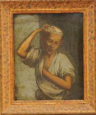 Peinture ancienne sur grand cuivre 51cm X 63cm