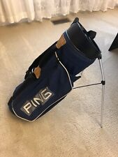 Ping Youth Carry Golf Bag With Stands And Two Carry Straps, Navy Blue Used