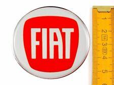 FIAT★ 4 Stück ★ SILIKON Ø55mm ROT Aufkleber Emblem Felgenaufkleber Radkappen