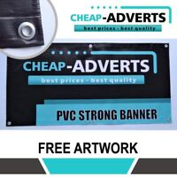 CHEAP BANNERS VINYL  - 2ft x 6ft- FREE ANY DESIGN - PRINTED PVC BANNER !!
