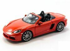 BBURAGO 1:24 DISPLAY Porsche 718 Boxster DIECAST CAR 24087 Orange