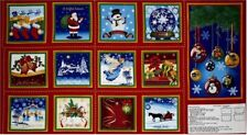 13 CHRISTMAS HOLIDAY PANELS TO CREATE A BOOK OR QUILT HOME DECOR & OTHER PROJECT