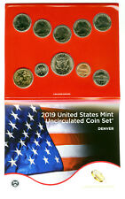 2019 D US MINT UNCIRCULATED 10 COIN DENVER SET SEALED FROM 19RJ