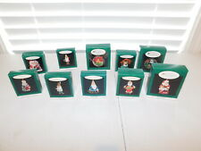 Lot of 10 Vintage Hallmark Miniature & Collector's Series Ornaments with Boxes