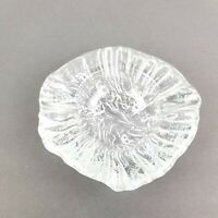 Vintage Crystal Glass Astray Large Round Heavy Cigarette Cigar Clear 7X7