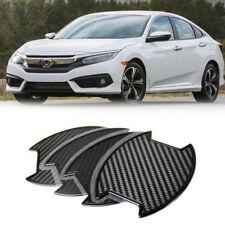 For Honda Civic 10th X 4DR Sedan Carbon texture Side Door Handle Bowl Sticker