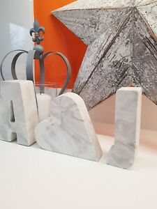 Concrete Marble Effect and Plain Numbers And Letters