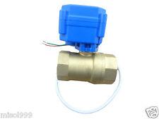 "10pcs motorized ball valve G3/4"" DN20 (reduce port), 2 way,12V, electrical valve"