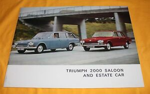 Triumph 2000 Saloon and Estate Car 1966 Prospekt Brochure Depliant Catalogue BL