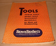 Brown Brothers Ltd Tools Catalogue - As Photo