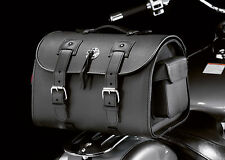 LEATHER MOTORCYCLE CRUISER TAIL BAG / TOUR TRUNK / RACK BAG / SUITCASE (02-2650)