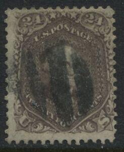 USA 1862 24 cent brown lilac Washington used (JD)