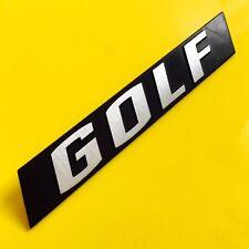 VW Mk1 GOLF VOLKSWAGEN REAR BADGE LETTERA REFURB (solo adesivo in dotazione)