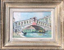 Tableau Huile Sur Toile Bateaux Gondole Venise Italie Vers 1920