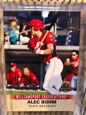 ALEC BOHM 2019 Williamsport Crosscutters Team Card RC Phillies
