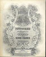 """Potpourri aus """" Die Meistersinger """" von Henri Cramer, alte, übergroße Noten"""