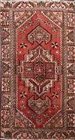 Antique Geometric Hamedan Area Rug Handmade Traditional Oriental Wool Carpet 4x6