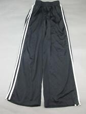 Adidas Size L(14-16) Boys Youth Black Athletic Sportswear Track Pants 403