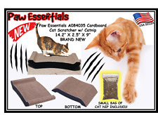 Paw Essentials A084035 Cardboard Cat Scratcher with Catnip 14.2� X 2.5� X 9� Bra