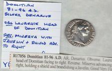ROMAN DOMITIAN SILVER DENARIUS 81 A.D. TO 96 A.D. IN NEAR VERY FINE CONDITION