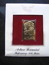 ARTURO TOSCANINI 22kt Gold Stamp replica FDI FDC Golden Cover