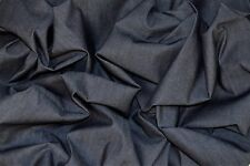 "LIGHT WEIGHT INDIGO STRETCH DENIM FABRIC JEANS MATERIAL 59"" WIDTH"
