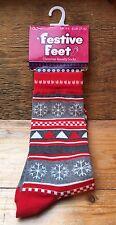 Women's Novelty Christmas Socks/New & Tags/Fair isle Theme/Ideal Gift/Size 4-8