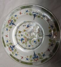 Antique Wedgewood plate - Ovington Brothers 1861-1920 Hand paint - Flowers, Bird