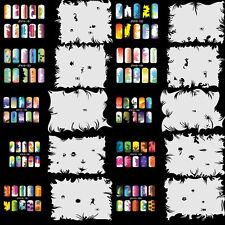 OPHIR 20x Template Sheet Air Brush Stencils for Nail Art Decoration