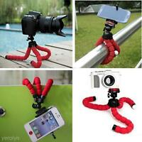 Octopus Flexible Phone Camera Tripod Mount Stand Holder + Phone Clip Mount