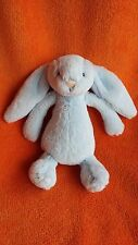 "LITTLE JELLYCAT SMALL BLUE BASHFUL BUNNY RABBIT SOFT TOY RATTLE 7"" DEBS19"