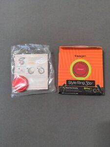 Spigen 360 Style Ring Finger Ring Grip Stand Holder, Red